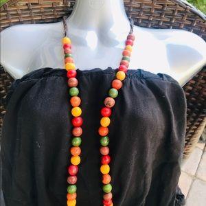 "Maria Oiticica  37.5"" Multi Beaded necklace"